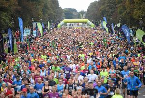 A view of the start of the SSE Airtricity Dublin Race Series Half Marathon. Pat Murphy / SPORTSFILE