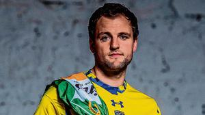Glenswilly and Donegal footballer Michael Murphy pictured in a Clermont Auvergne jersey ahead of the final two episodes of AIB's GAA series 'The Toughest Trade' on Virgin Media Television this summer. Photo: Ramsey Cardy/Sportsfile