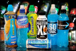 Sports Drinks. Pic by Steve Humphreys.
