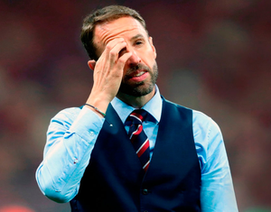 ANGUISH: England manager Gareth Southgate. Photo: Owen Humphreys/PA