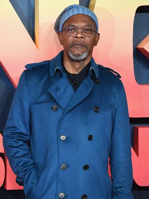 "Samuel L Jackson attends the European premiere of ""Kong: Skull Island"" at the Cineworld Empire Leicester Square on February 28, 2017 in London, United Kingdom.  (Photo by Ian Gavan/Getty Images)"
