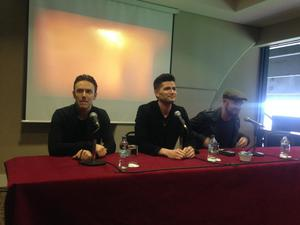 The Script at the announcement of their headline gig at Croke Park