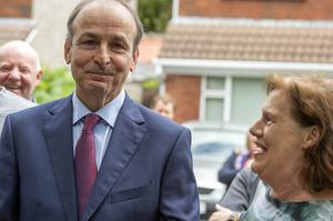 New Taoiseach Micheal Martin with wife Mary after he arrived home in Cork. Photo: Michael Mac Sweeney/Provision