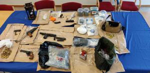 Some of the weapons and ammunition seized in the raid