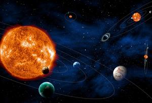 ESA artists impression of solar systems as a 1 billion pound European space telescope to be launched in 2024