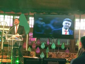 Manchester United group manager Richard Arnold speaking at the Web Summit in Dublin