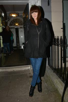 Heavily pregnant Jennifer Maguire spotted filming her RTE show The Unemployables at Dylan Bradshaw's salon on South William Street