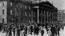 Crowds gather at the GPO after the Easter Rising. Photo: Mansell/Time & Life Pictures/Getty Images