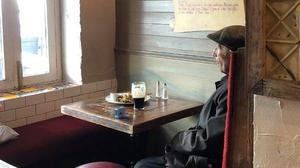 Quiet pint: John Joe Quinn in McGinn's Hop House in Woodquay, Galway