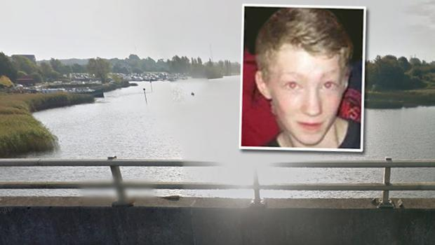 Caolan Webster, inset, who died after getting into difficulty swimming on a stretch of the Shannon river near the Athlone Sub Aqua clubhouse