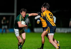 Harry Rooney, Meath, in action against Eoin O'Connor, DCU