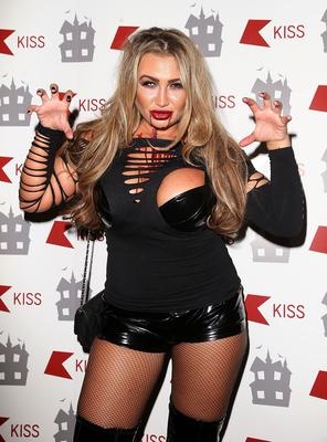 Lauren Goodger attends the KISS FM Haunted House Party at Eventim Apollo, Hammersmith on October 31, 2014 in London, England.  (Photo by Danny E. Martindale/Getty Images)