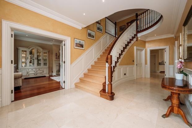 Debutante flattering: The swept staircase at Brysam