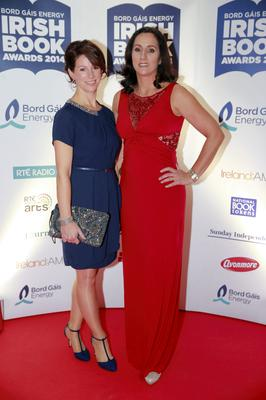 Hazel Gaynor and Maria Duffy at the Bord Gais Energy Irish Book Awards at the Double Tree by Hilton Hotel in Dublin. Picture: Arthur Carron