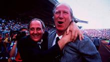 Jack Charlton and Maurice Setters celebrate the famous win over England at Euro '88. Photo: Ray McManus/SPORTSFILE