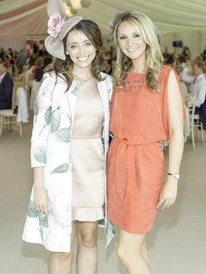 Corinne  Vaughan & Niamh Wade pictured at the 150th Dubai Duty Free Irish Derby at the Curragh Racecourse on Saturday 27th June. Photo Anthony Woods.