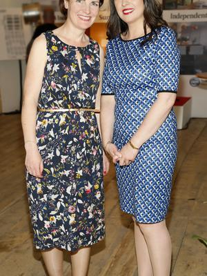no fee if house 2016 mentioned in caption Louise McLoughlin and Cliona Carroll at the launch of house 2016  at The Chocolate Factory. The new interiors event launched by INM will run from 20th - 22nd May 2016 at the RDS Simmonscourt, and will showcase the very best of all things home and interiors related-photo Kieran Harnett