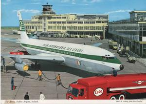 John Hinde postcard of the Old Terminal and Pier A at Dublin Airport. Source: Dublin Airport/Pinterest