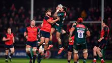 Munster and Leicester doing battle at Thomond Park