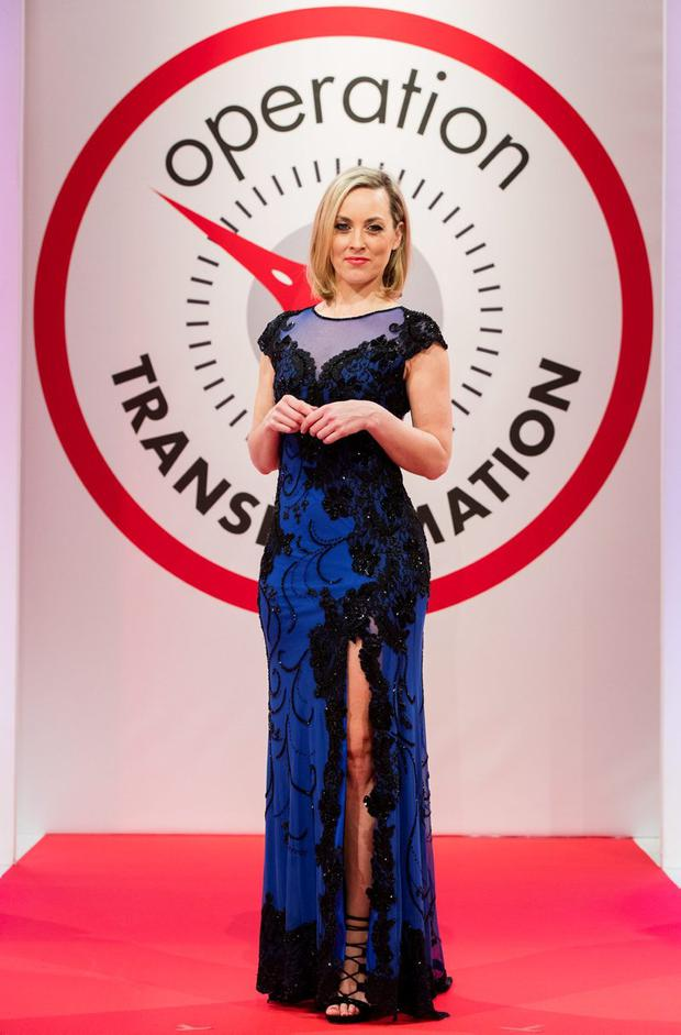 Kathryn Thomas pictured at the Operation Transformation 2016 finale filmed in RTÉ this week. Picture Andres Poveda
