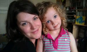 Heartache: Amy Dutil-Wall with daughter Estlin, who died in March 2017 just before her fourth birthday