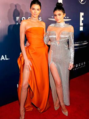 Kendall Jenner and Kylie Jenner attend NBCUniversal's 74th Annual Golden Globes After Party at The Beverly Hilton Hotel on January 8, 2017 in Beverly Hills, California.  (Photo by Loreen Sarkis/Getty Images)
