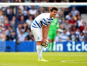"""Queens Park Rangers Joey Barton reacts during their English Premier League soccer match against Hull City at Loftus Road in London August 16, 2014. REUTERS/Dylan Martinez  (BRITAIN - Tags: SPORT SOCCER) FOR EDITORIAL USE ONLY. NOT FOR SALE FOR MARKETING OR ADVERTISING CAMPAIGNS. NO USE WITH UNAUTHORIZED AUDIO, VIDEO, DATA, FIXTURE LISTS, CLUB/LEAGUE LOGOS OR """"LIVE"""" SERVICES. ONLINE IN-MATCH USE LIMITED TO 45 IMAGES, NO VIDEO EMULATION. NO USE IN BETTING, GAMES OR SINGLE CLUB/LEAGUE/PLAYER PUBLICATIONS"""