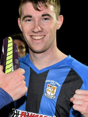 Two goals from Garbhan Coughlan helped Athlone defeat Liffey WDS