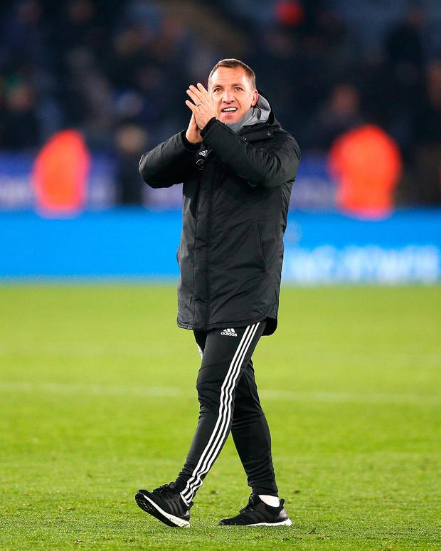 Brendan Rodgers has had an impressive season with Leicester. Photo: PA Wire
