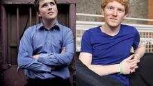 The Collison brothers, John (L) and Patrick (R), who founded online payments firm Stripe