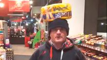 Sinn Féin MP Barry McElduff with a loaf of Kingsmill bread on his head on the anniversary of the Kingsmill massacre. Picture: PA