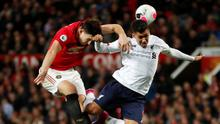 Manchester United's Harry Maguire in action with Liverpool's Roberto Firmino during last Sunday's Premier League clash at Old Trafford