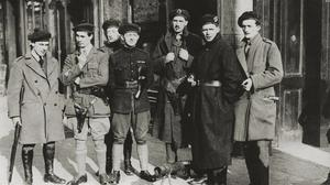 Armed and dangerous: Black and Tans guarding Dublin after a shooting