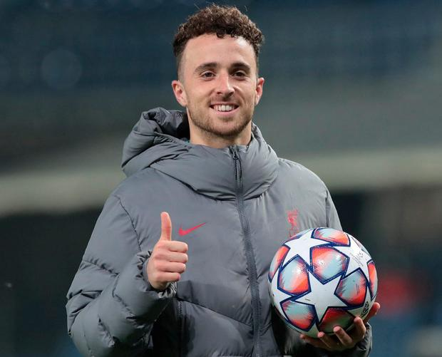Hat-trick hero Diogo Jota. Photo: Getty Images