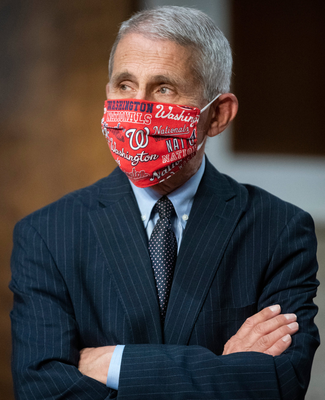 Behind mask: Anthony Fauci. Photo: Getty Images