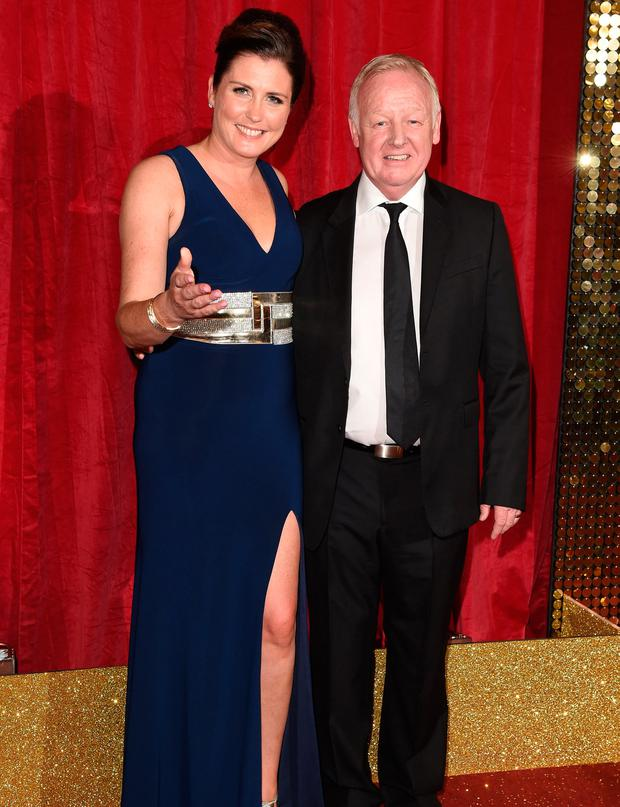 Les Dennis with his current wife Claire, with whom he has two young children. Photo: Jonathan Hordle