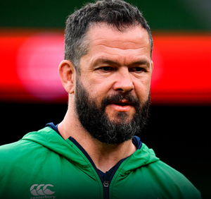OPENER: Andy Farrell has his first game in charge of Ireland today