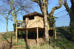 The garden has a great play area for children with an amazing purpose built tree house