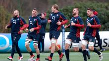 England players in training, ahead of their clash with Wales on Saturday. Photo: Andrew Matthews/PA Wire