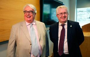 Colleagues: Chief Justice Frank Clarke and Supreme               Court judge Seamus Woulfe. Photo: Brian Lawless/PA Wire