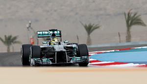 Nico Rosberg in action today