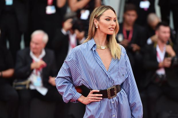 """Candice Swanepoel walks the red carpet ahead of the """"Marriage Story"""" screening during during the 76th Venice Film Festival at Sala Grande on August 29, 2019 in Venice, Italy. (Photo by Theo Wargo/Getty Images)"""