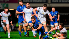 Seán Cronin of Leinster dives over to score his side's first try