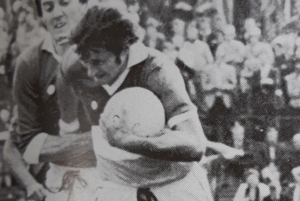 Paddy Fenning in action against Louth in 1980
