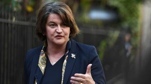 """'DUP leader Arlene Foster felt so strongly about the footage of some players singing 'Come Out Ye Black and Tans' as a band parade passed their bus in Aughnacloy on Saturday that she wrote an opinion piece for the 'Belfast Telegraph' calling for """"meaningful action"""" to be taken against those involved.' Photo: Reuters/Clodagh Kilcoyne"""