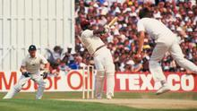 The legendary Viv Richards in action for the West Indies at Old Trafford in the side's 1984 trip to England. Photo by Adrian Murrell/Getty Images