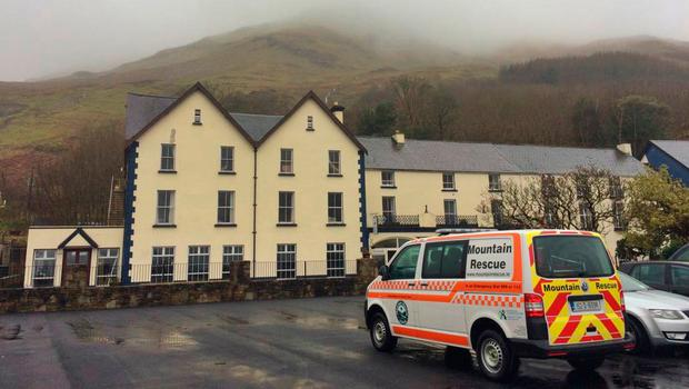 Resuce team in Leenane Co Galway Picture: Galway Mountain Rescue Team