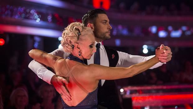 Debbie McGee and Giovanni Pernice during the live show of Strictly Come Dancing (Guy Levy/BBC)