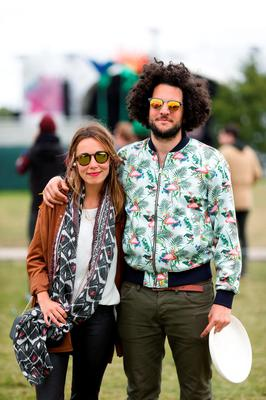 FAO DAVID CONACHY : Pictured (l-r) was Matthieu Chardon from France and Ana Cancho from Spain living in Ballsbridge Dublin at Electric Picnic, Stradbally, Co Laois. Picture Conor McCabe.