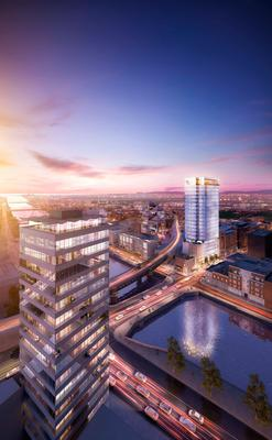 Johnny Ronan's proposed Aqua Vetro  tower, which would be Dublin's tallest building